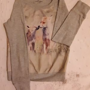 Jessica Simpson girls sweater w Wolves